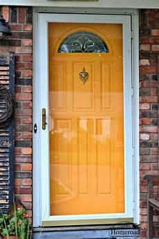 painting my front door yellow homeroad