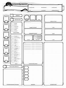 character sheet d d dungeons dragons 5th edition character sheet 3 pages