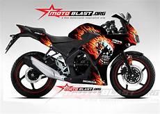 Variasi Motor Cbr 150 by Modif Striping Honda Cbr150r Lokal Black Motoblast