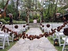 pine cone wedding lots of love