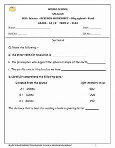 grade 5 science worksheets light 12290 birla world school oman revision worksheets for grade 5 as on 13 05 2019