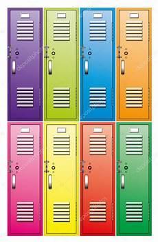 armadietti scuola set vettoriale di armadietti metallici scuola vettoriali