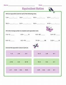 equivalent ratios worksheet education com