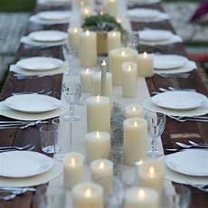 10 romantic flameless candle wedding centerpiece ideas
