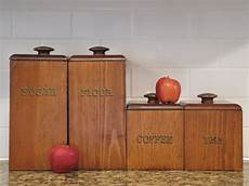 wooden canisters kitchen vintage canisters set of 4 cornwall wooden canisters