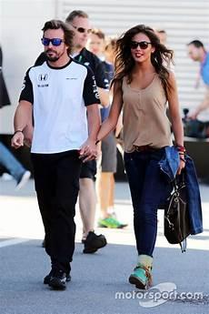 Fernando Alonso Mclaren With His Lara Alvarez
