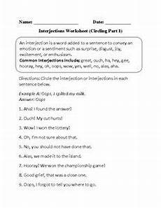 conjunctions and interjections worksheet lesson planet school stuff teacher worksheets
