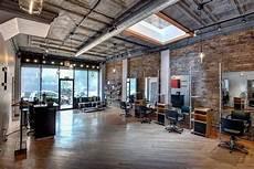 Industrial Style Hair Salon industrial hair salon wall floor design chairs mirrors