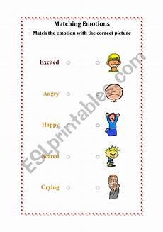 english worksheets matching emotions