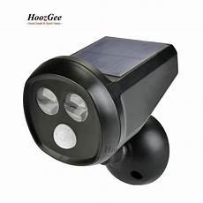 solar panel power pir sensor led wall light spotlight yard manor security l motion sensing