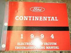 electric and cars manual 1994 lincoln continental on board diagnostic system 1994 lincoln continental factory electrical wiring diagrams service manual ebay