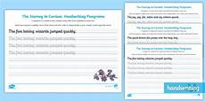 cursive handwriting practice worksheets ks2 22034 cursive handwriting ks2 pangram worksheet