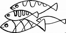 Einfache Malvorlagen Fische Vier Einfache Fische Ausmalbild Malvorlage Tiere