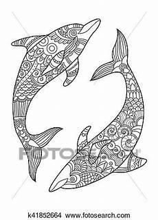 ausmalbilder delfin erwachsene kinder ausmalbilder