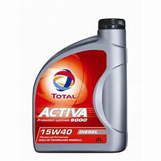 huile de moteur diesel huile moteur total activa 5000 15w40 diesel 2 l norauto fr