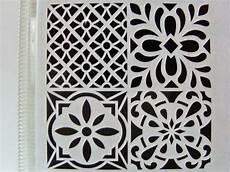 pochoir home deco 4 motifs mix style carreaux de ciment