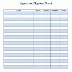 employee sign in out sheet template free 14 sign out sheet templates in free sles exles format google docs google sheets