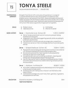 take a at this restaurant server resume exle