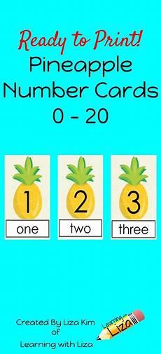 ela worksheets 15480 pineapple number cards 0 20 numbers preschool math activities preschool math