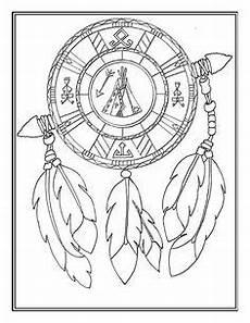 indianisches mandala mit pfeil und bogen ausmalbild