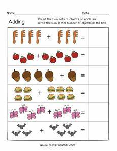 digit addition worksheets for kindergarten 9313 printable count and add worksheets for preschools