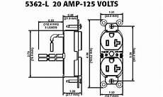 Leviton 5362 Lr 20 125 Volt Nema 5 20r 2p 3w Slim