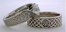 wedding style trinity knot wedding ring sets