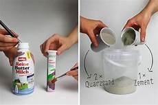 Betbetonvase Flasche Kerzenst 228 Nder Diy Anleitungonvase