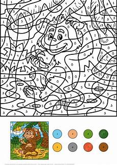 color by number animal worksheets 16069 monkey animal with a banana color by number coloring page from color by number worksheets