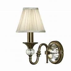 63598 polina antique brass single wall light beige shade