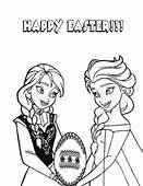 Sisters Elsa And Anna Easter Egg Coloring Page  H & M