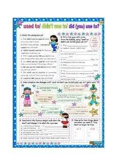 grammar worksheets elementary 18268 worksheet used to didn 180 t use to did you use to for elementary lower