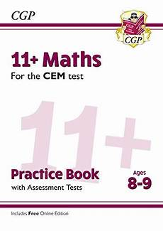 new 11 cem maths practice book assessment tests ages 8 9 with online edition cgp 11 cem