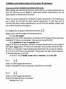 adding and subtracting fractions worksheets doc fraction mathematics arithmetic