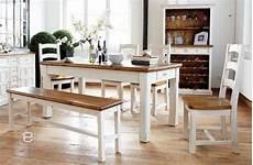 Esszimmer Weiß Landhausstil - komplett landhaus esszimmer massiv wei 223 honig 6tlgset ebay
