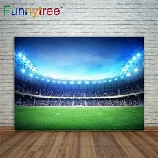 3x5ft Football Grassland Stadium Theme Photography by Funnytree Football Field Indoor Stadium Shining Backdrop