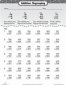 addition with regrouping worksheets with exles 9722 practice three digit addition with regrouping worksheets and articles