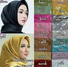 35 Trend Terbaru Jilbab Segi Empat Kain Licin Flatpop Megan