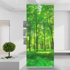 Raumteiler Green Forest Lights Wald Wiese Pflanzen See