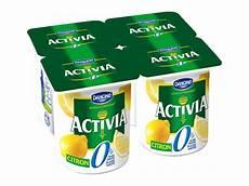 yaourt au bifidus activia yaourt bifidus au citron 0 de mg 4 x 125g tous