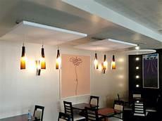 plafond suspendu acoustique panneau acoustique plafond maison travaux