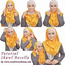 Cara Memakai Jilbab Shawl Rosella 1 Tutorial Memakai
