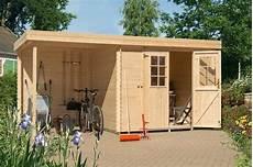 gartenhaus mit holzlager luoman gartenhaus 187 lillevilla 429 mod 171 bxt 240x200 cm mit anbau 180 cm breite r 252 ckwand