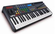 weighted midi keyboard akai 49 key semi weighted keyboard controller mcquade musical instruments