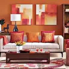 modern orange living room decorating ideal home