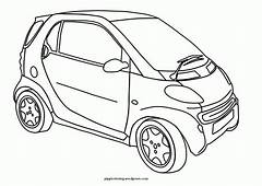 Car With Spoiler Coloring Page  Home