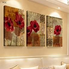 paintings for home decor 3 canvas flowers paintings on the wall wall