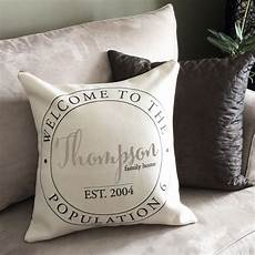 personalized family name pillow little monkey designs