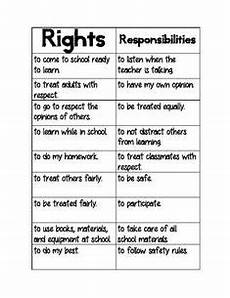 children s rights and responsibilities classroom ideas right
