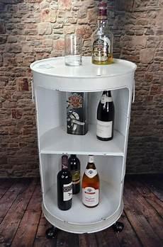 minibar für wohnzimmer minibar hausbar regaltonne 214 lfass h80 cm industrie look